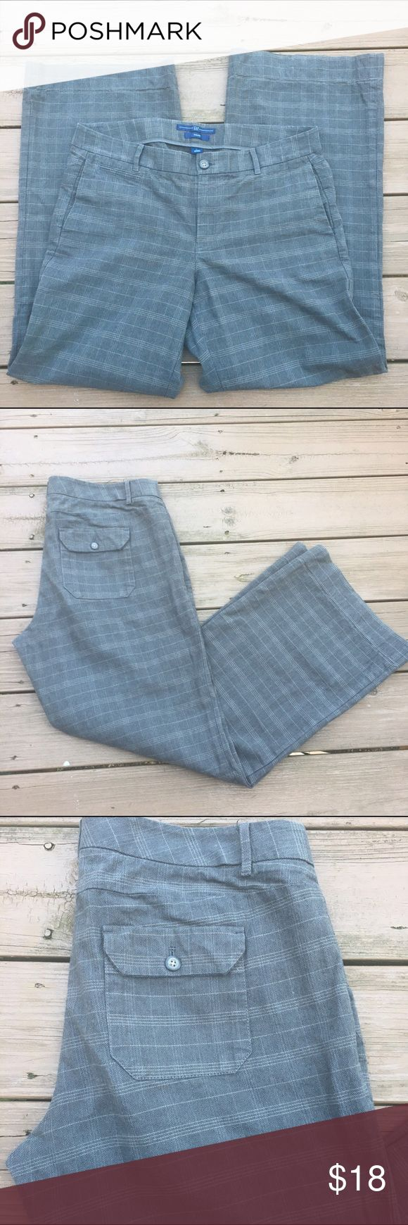Gap trousers Nice gray patterned gray trousers by Gap. Sz 12. GAP Pants Trousers