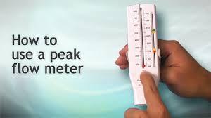 How to use a peak flow meter