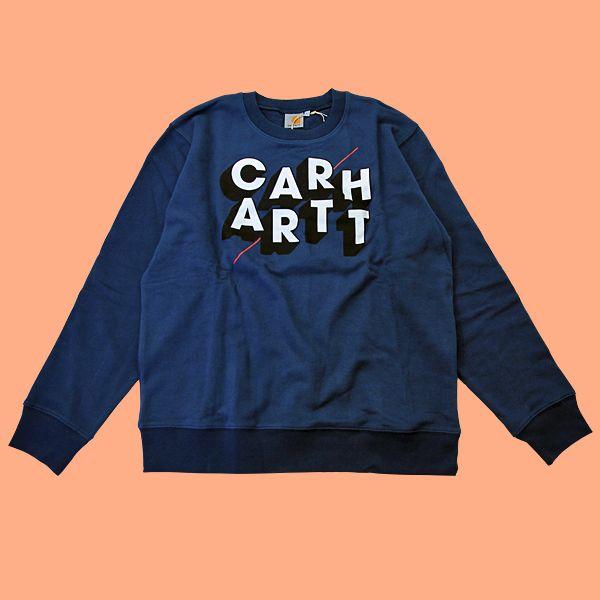 Carhartt Diagonal Sweatshirt in FederalBluza Carhartt z dużym nadrukiem z przodu.Długość całkowita, szerokośćod pachy do pachy:M – 70cm, 59cm L - 71cm, 62cm XL - 73cm, 67cm