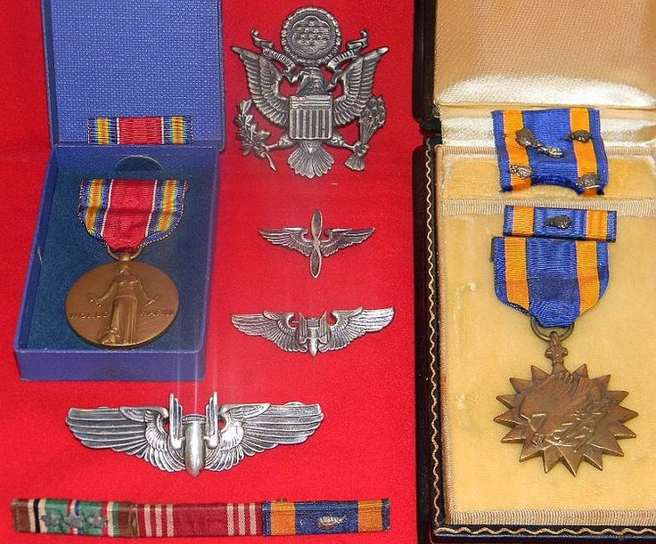 An Army Air Force grouping of military medals to include