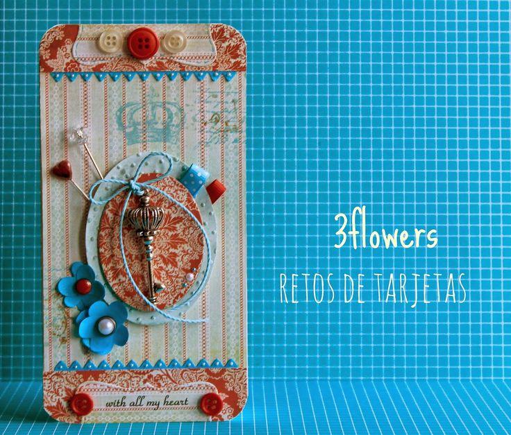 3flowers - retos de tarjetas