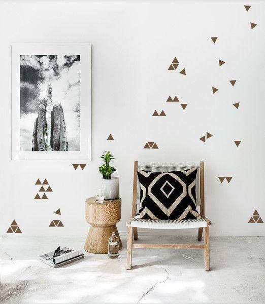 Best Wanddeko Wandsticker Dreiecke er Set a cm ein Designerst ck von UrbanARTBerlin bei DaWanda