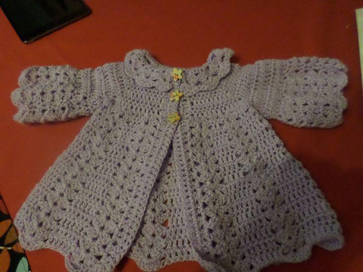 baby girls cardigan violet