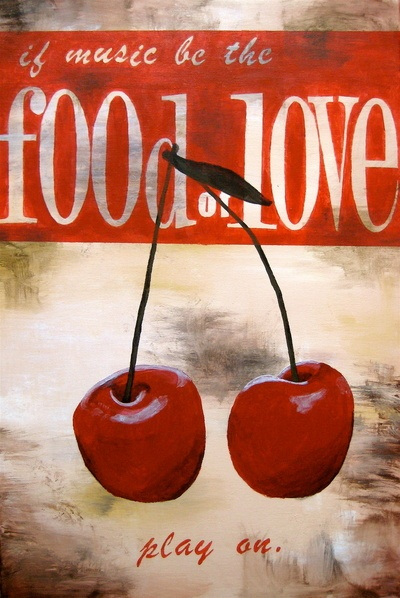 Cherry http://society6.com/AlisonWoodBrooks/food-of-love_Stretched-Canvas