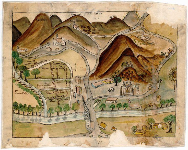 Cerro del Tepeyac, Ciudad de México (siglo XVIII). Montes de Oca, J. Tepeyacac, Santiago, Atzacualco, Santa Ysabel, Zacatenco, Tecoma, San Lorenzo, etc.,