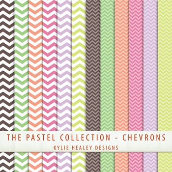 Free digital papers...chevron pastels