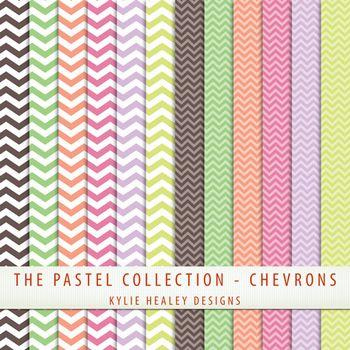 Free digital papers...chevron pastels