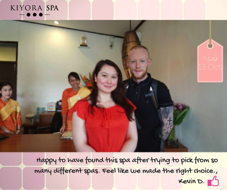 Kevin D and his partner had a hard time choosing which spa to go to. #serendipity  Read more here: www.kiyoraspa.com/reviews/ . . . . . . . . . . . . . . . #luxuryspa #dayspa #thailand #chiangmai #serviceexcellence #kiyoraspa #relaxation #massage #wellness #treatments #therapeutic #wellbeing #thailandonly #amazingthailand #explorethailand #bodywrap #aromatherapy #herbalcompress #deeptissue #bodyscrub #spatreatments #spa