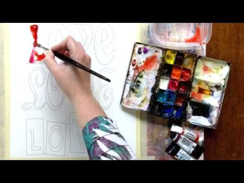 Create38 Online Watercolor Class, Preview of Weekly Assignment - YouTube