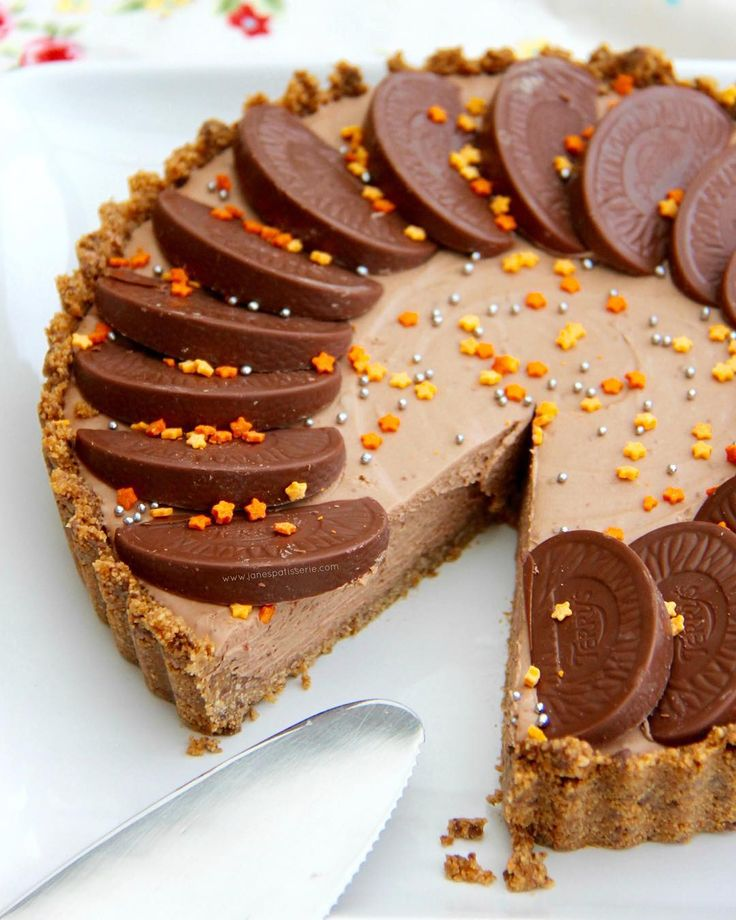 My NoBake Terrys Chocolate Orange Tart has been amazingly popularhellip