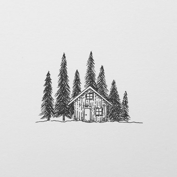 "A little hut in the forest. One of these days I will rent one for at least 2 weeks and just ignore the rest of the world and get cabin fever  I was thinking of Greenland goals for the future.  Where would you go?  Hope you all have a great day.  Free Shipping on orders over 30 CHF with code ""FREE""  My shop with prints and originals. http://ift.tt/2jfRKg7 . . .  #illustration #illustrations #drawing #draw #sketchbook #artwork #artworks #instaart #instaartist #traditionalart #artoftheday…"
