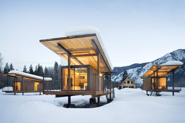 The 12 Coolest Hotels in the West - 7. Rolling Huts Winthrop, Washington