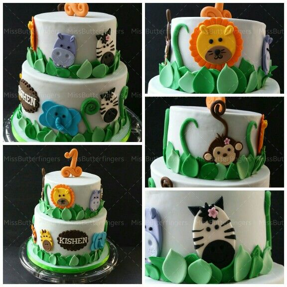 Been to the zoo lately?  Cute zoo theme.. perfect for a 1 year old! #birthday #cake #missbutterfingers