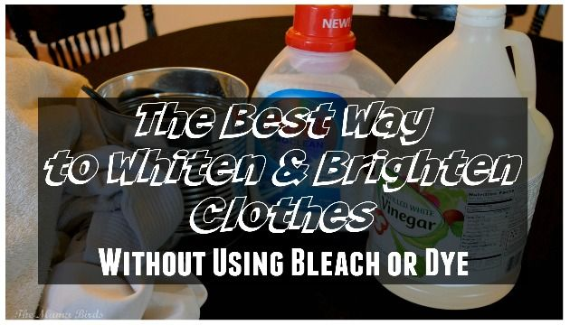 Today on the blog, I am sharing with you the best way to whiten clothes without using plain bleach or dye! With only 4 items you can have white clothes !