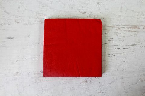 Red Plain Paper Napkins | Pop Roc Parties