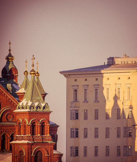 Katajanokka, Helsinki, Finland. The view from my window when I was little.