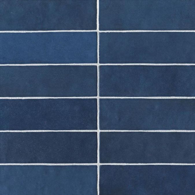 Bedrosians Cloe 76 Pack Blue 2 1 2 In X 8 In Glossy Ceramic Subway Wall Tile Lowes Com In 2020 Ceramic Subway Tile Ceramic Wall Tiles Wall Tiles