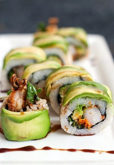 Dragon Roll Sushi Recipe-this is awesome...great tips on doing tempura!