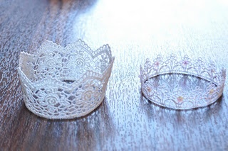 little princess crown's how to make for newborn photos