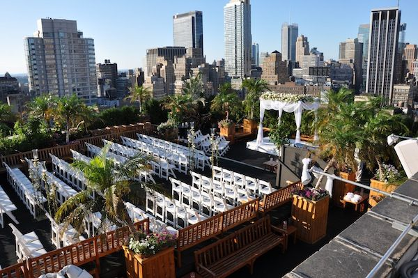 230 fifth nyc outdoor jewish wedding view more memorable for Outdoor wedding new york