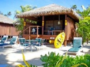 Want a bungalow right on the beach? Rarotonga Beach Bungalows in the Cook Islands is for you.
