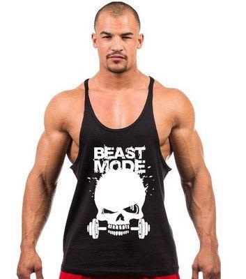 New Bodybuilding Stringer Singlet Skull Beast Mode Fitness Tank Top Men  Gasp Golds Gymshark Sportwear Vest Tops yeezy