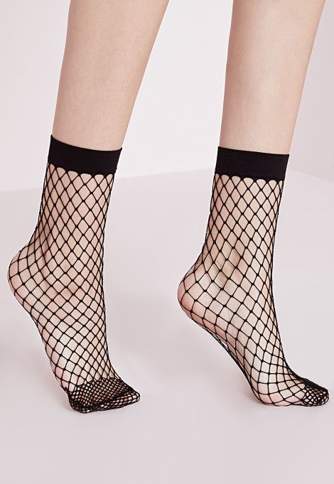 Lingerie Chaussettes et collants Femmes - Missguided Soquettes noires en résille