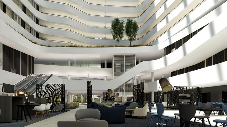 SCHPHOL CBD * THE NEW HILTON SCHIPHOL * Looking forward to lot's of business meetings and lounging in the lobby of the new Hiton Schiphol: 4th quarter 2015.