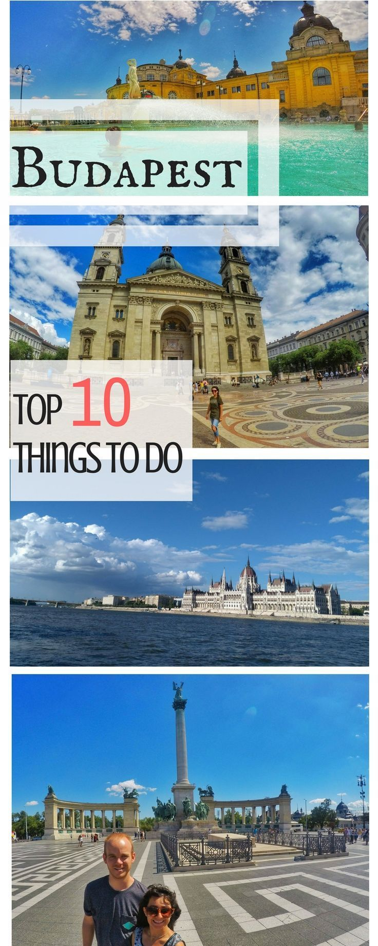 Budapest, Hungary Travel - Top places to see and things to do on a three-day itinerary in Budapest. Some of the best things to do include walking over the Chain Bridge, going to the thermal baths, seeing the Parliament, Opera House and more included in this article: https://togethertowherever.com/top-things-to-do-budapest/