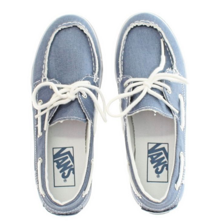 Womens Vans Zapato Twill Blue Boat Deck Canvas Ladies Casual Shoes Size 5 10 | eBay