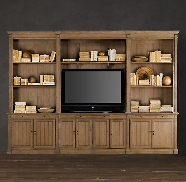 Kitchen Cabinet Handles Restoration Hardware: Great Refined Rustic Feel To This Media Center From