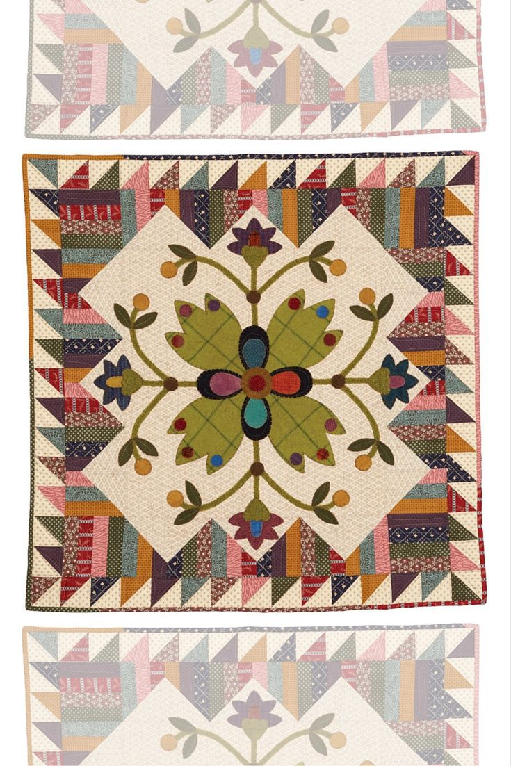 Spools doll quilt table runner wall hanging lyn brown s quilting - Picket Fence Blooms By Deanne Eisenman Is A Beautiful Wall Hanging Made With Cotton Quilting Fabrics And Felted Wool Use Perle Cotton For The Blanket