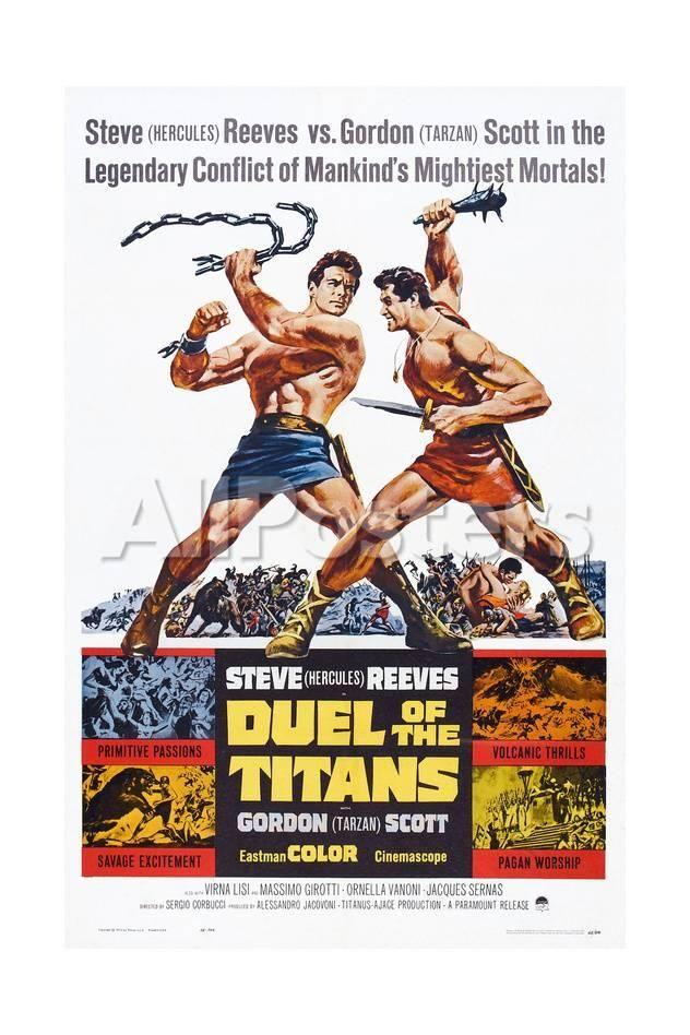 Duel of the Titans, (aka Romolo E Remo), Steve Reeves, Gordon Scott, 1961 Movies Art Print - 41 x 61 cm