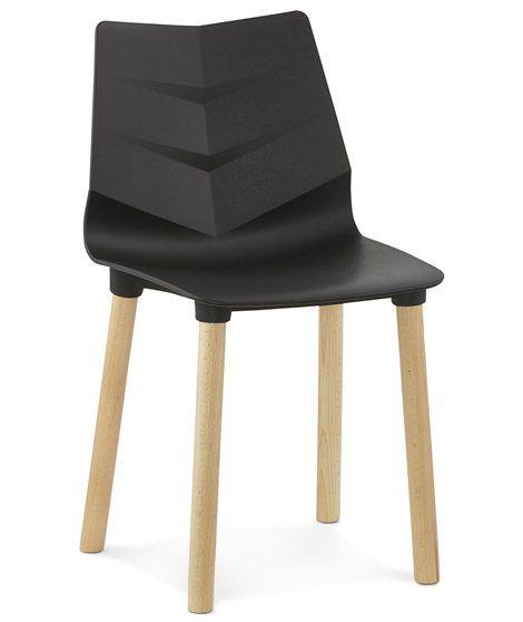 chaise matiere plastique et polymere noir torro