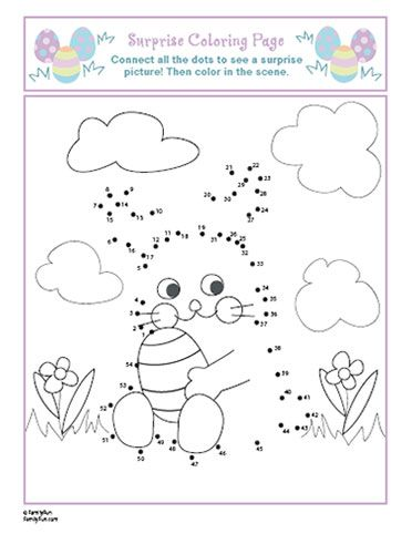 Easter Coloring/Connect the Dots Prints