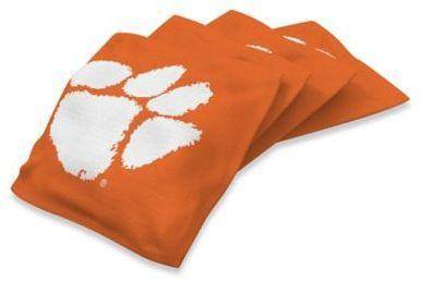 NCAA Clemson University 16 oz. Regulation Cornhole Bean Bags in Orange (Set of 4)