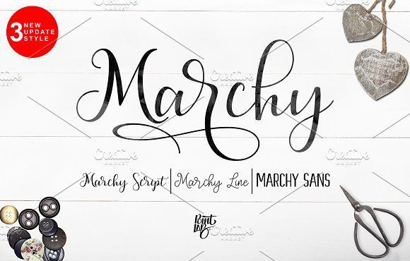 Marchy Script_OFF 30% by pointlab on @creativemarket