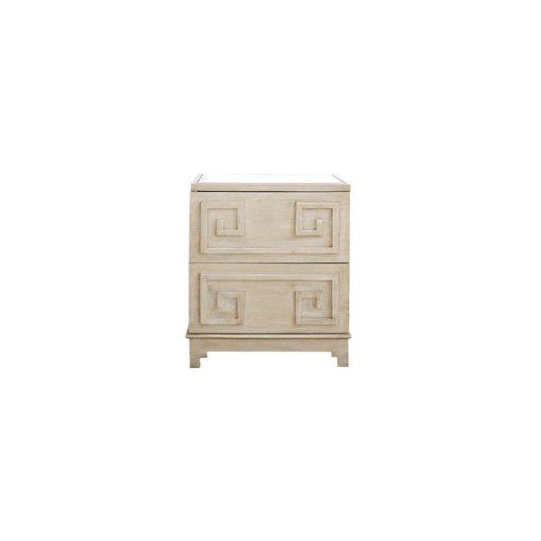 Worlds Away Pagoda Limed Oak Nightstand Via Polyvore Featuring Home,  Furniture, Storage U0026 Shelves