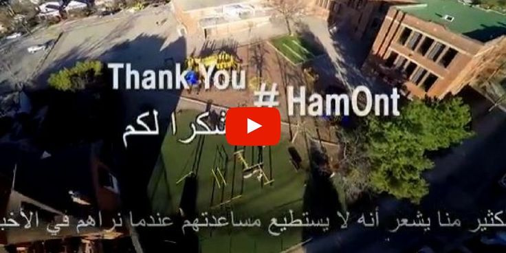Proud to have played a role in the welcoming & settlement of Syrian refugees in #HamOnt - Thanks to all involved! https://www.youtube.com/watch?v=VQ-gpBqTwBI …