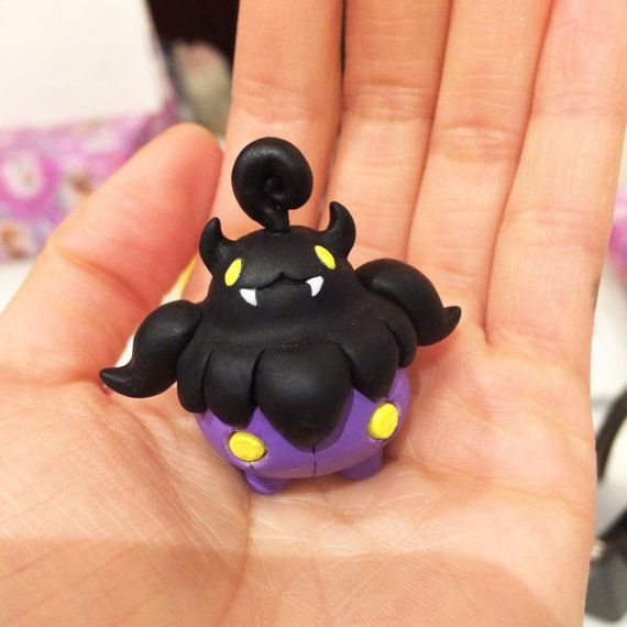 Mini Pokemon Series : Shiny Pumpkaboo Inspired Clay by Astrodough