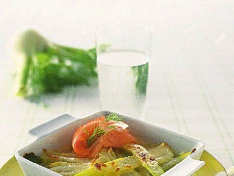 Parmesan- och vingratinerad fänkål till rökt lax Receptbild - Allt om Mat