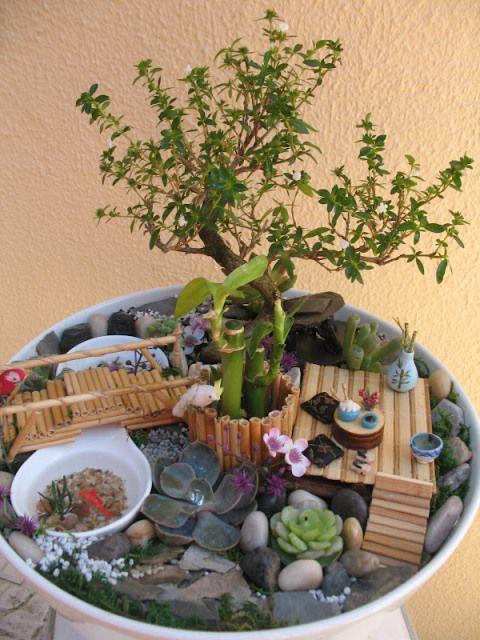Mini jardins! | Artesanato & Humor de Mulher
