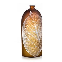 Glass artist Nick Chase is influenced by the natural and urban landscapes that surround him. His collection varies in colours and leaf patterns.