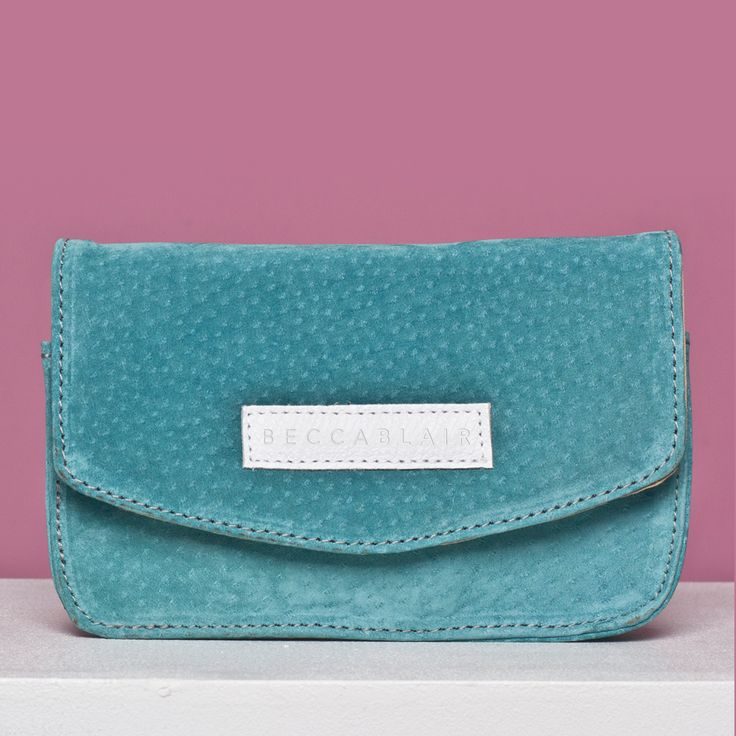 The Jake bag - Duck egg Blue Suede. Made in South Africa.