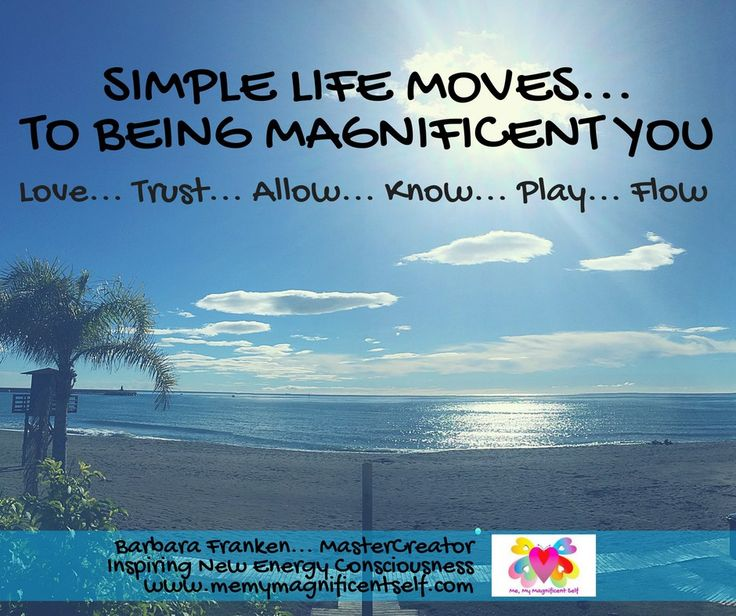 6 Simple Life Moves... To BEING Magnificent YOU