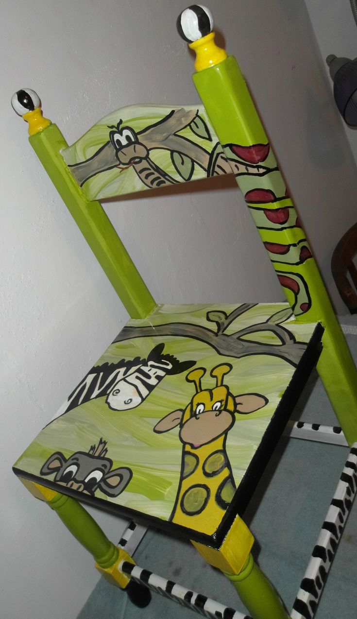 Fun hand painted childs chair