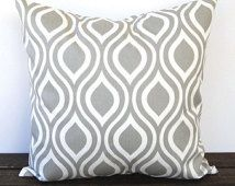 Gray pillow cover One Nicole Storm Gray cushion cover modern pillows peacock print