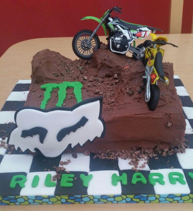 Motorcross bike chocolate birthday cake