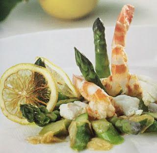 LE GUSTOSE RICETTE  DI NONNA MARIA: Insalata di asparagi e mazzancolle allo zenzero