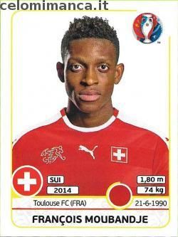 UEFA EURO 2016™ Official Sticker Album: Fronte Figurina n. 109 François Moubandje